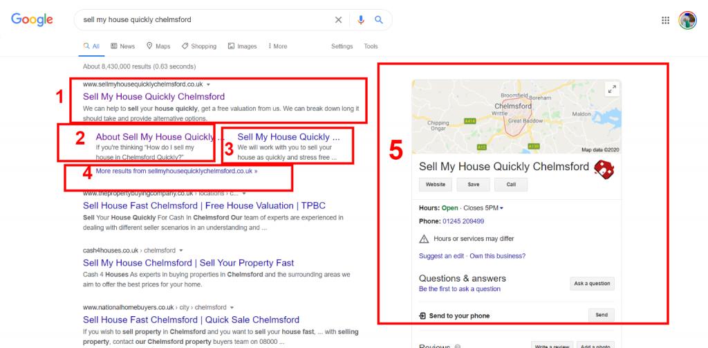 Property Website to top of Google